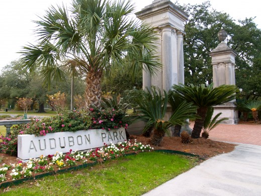 Audubon Park entrance