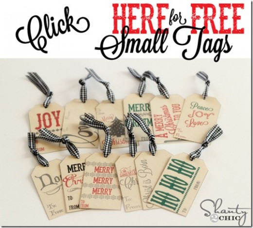 FREE Printables ~ Gift Tags