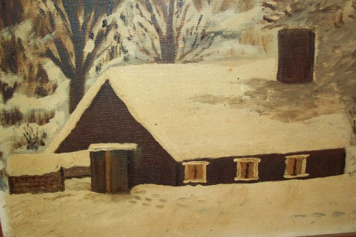 My grandmother, Katherine painted this picture of my Uncle Ervin's sugar shanty in 1984. I proudly display this on my living room wall.