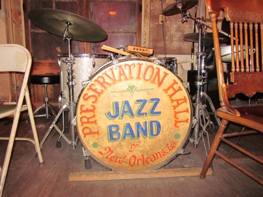 Musical instruments inside the Preservation Hall