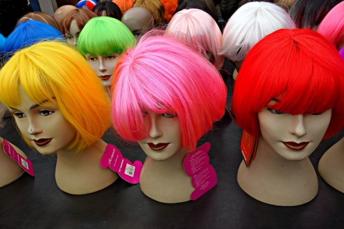 Any of these beautifully-colored wigs can be perfect for your Halloween witch costume