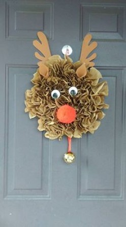 Rudolph the red nosed reindeer door decor