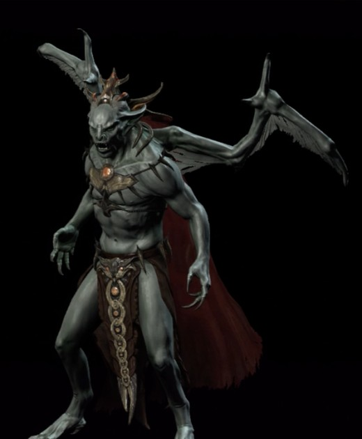 Lord Harkon in Vampire Lord Form