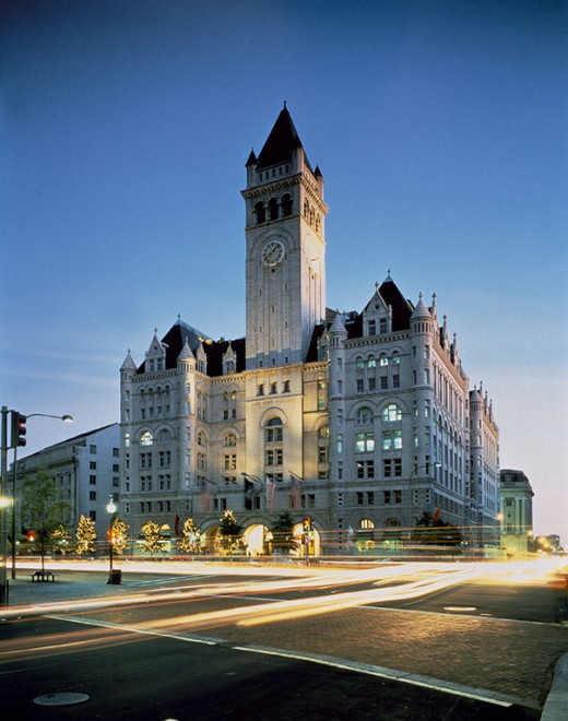 Trump's International hotel just blocks away from the White House literally looks like a castle. Was it built for Kings?
