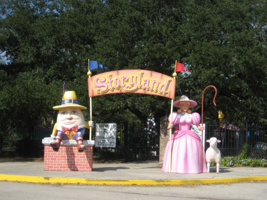 "Entrance to the ""Storyland"" children's area, City Park."
