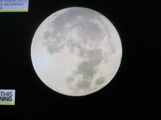 "Photo of the Super Moon from ""CBS This Morning Television series."""