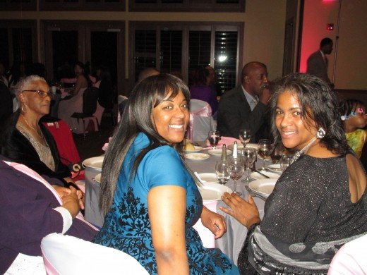 Tanisha and her mom, who are Darlena's cousins also attended the wedding and reception.