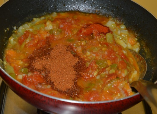 Pav bhaji cooking in progress