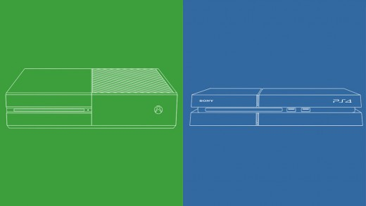 Xbox One (left) vs. PS4 (right)