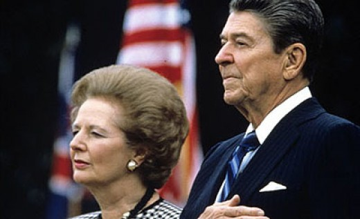Margaret Thatcher and Ronald Reagan ushered in an age of neo-liberal economic policies in the 1980's. These policies enabled the crash of 2008 but were not denounced by Western governments.