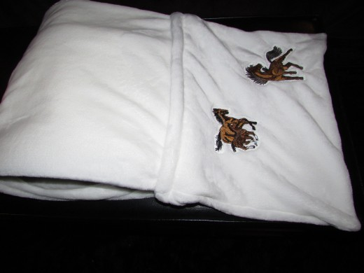 Fold into Three centered over Billow Pocket and Roll in -Square Size of your Pillow then Stuff
