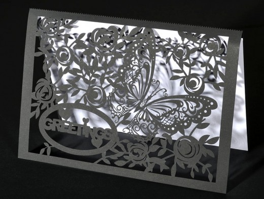 The fine laser cut detail on cards give a feel of days gone by.