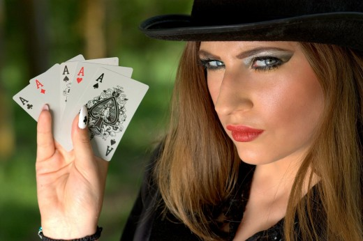 "To a Beginner who Is Not Counting on Winning Lady Luck May Show up with a ""Fifth Ace"""