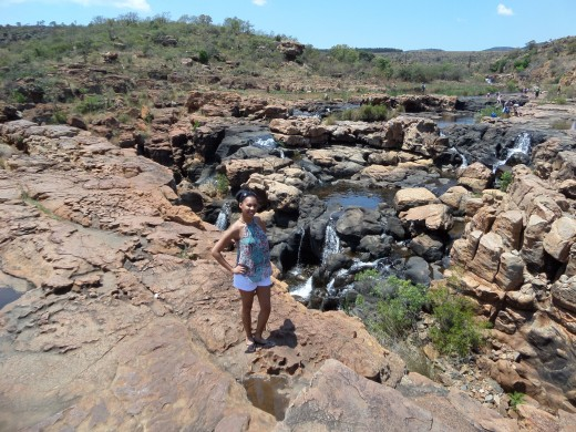 Cool time spent at Bourkes Luck Potholes.