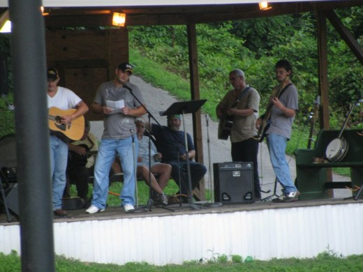 One of the gospel groups I played with. Notice how everyone looks like they belong on the same stage.