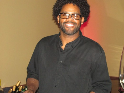 The very patient and talented Gary, who has been bartending for 20 years. Presently works for Catering by Vitarellis.