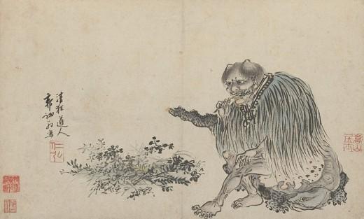Guo Xu (1456–c.1529) Description Shennong chewing a branch Dated 1503