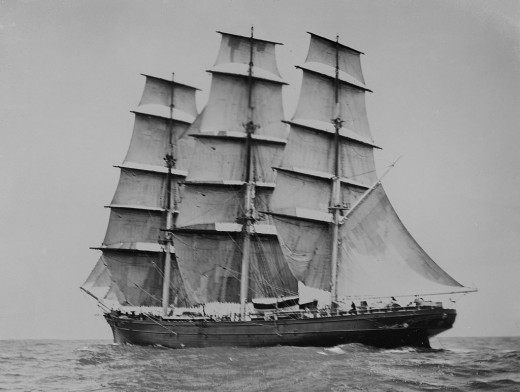 The Cutty Sark was one of the last and fastest of the tea clippers