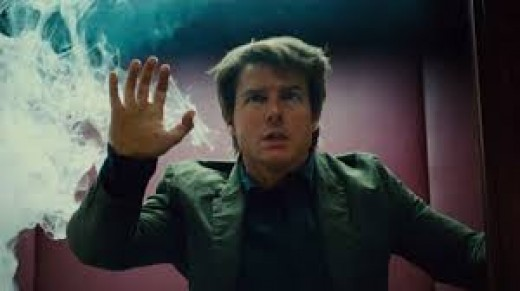 An apt representation of the inside of a depressed mind.  Can see the way out but trapped behind an invisible wall and choking inside.  From Mission Impossible: Rogue Nation