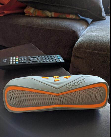 Leeron Portable Bluetooth Speaker on the desk