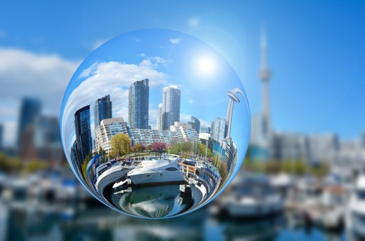The stories you tell about the world are from your own perspective. (See how Toronto skyscrapers are changed when viewed through an altered reality.)