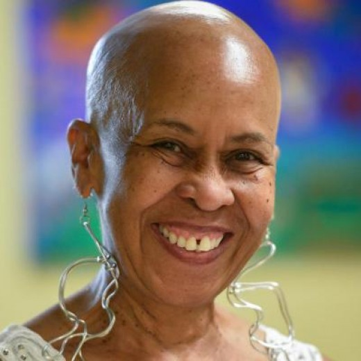In celebration of her 65th Birthday, Rev. Sandy took up a challenge she saw another lady do with shaving her head. A very liberating challenge. ;-)