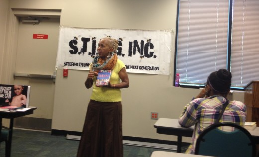 Facilitating a Writers class with the youth of STING INC.