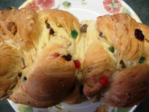 Closeup of Xmas sweet bread.