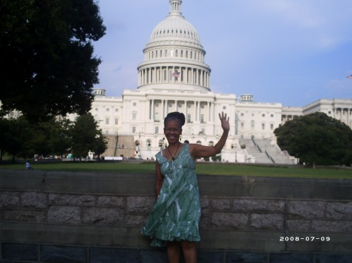 Rev. Sandy in D.C. for an HIV Conference in 2008.