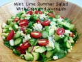 Mint Lime Summer Salad With Corn and Avocado