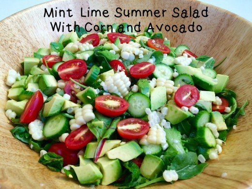 Lime and mint enhance the corn, avocado, and other ingredients in this delicious summer salad.