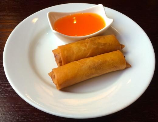 Chinese veg spring rolls