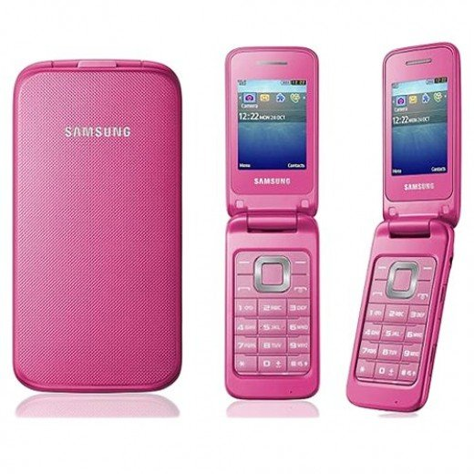The Samsung A157V Flip Phone comes in black and pink. With a standby time of up to 610 hours and a talk time of 9 hours it's much more reliable than today's smart phones.