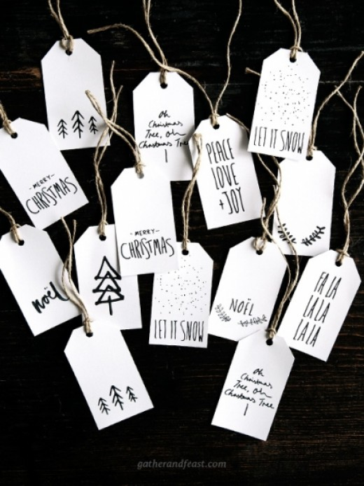 Gather and Feast have 10 different gift tags you can print out.