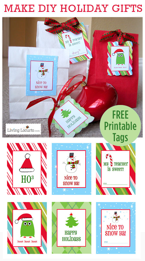 Living Locurto always gives us free, cheerful things to print out, like these gift tags.