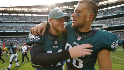 Philadelphia Eagles QB Carson Wentz and TE Zach Ertz are going to have to hook up repeatedly if the Eagles have any chance at winning