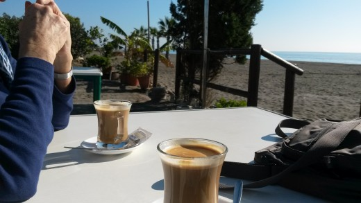 Coffee by the sea.