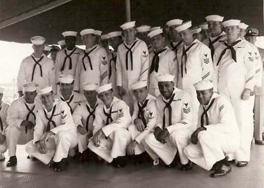 The crew of the U.S.S. Allegheny ATA-179, Auxiliary Fleet Tug