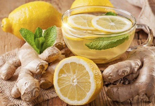 Lemon and ginger concoction