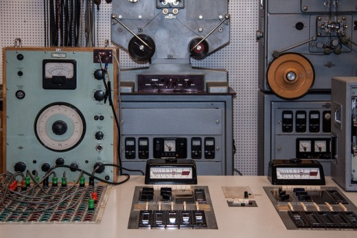 1960's typical recording studio