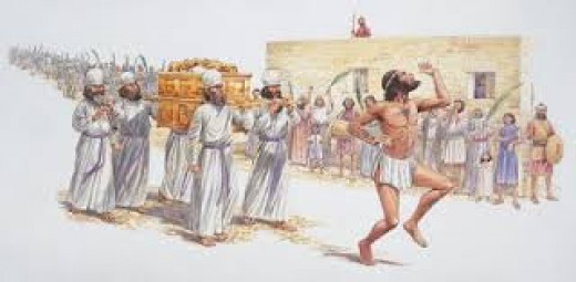 King David danced until his clothes fell off.