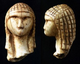 The Venus of Brassempouy is a fragmentary ivory figurine from the Upper Palaeolithic. It was discovered in a cave at Brassempouy, France in 1892. About 25,000 years old, it is one of the earliest known realistic representations of a human face.