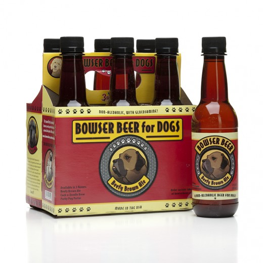 "This canine ""beer"" is made here in the USA and it's made with human-grade beef, chicken or pork, it has no added salt or fat.  It also has  malt barley which-in case you did not know-contains vitamin B and amino acids, and glucosamine"