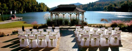 This is a wedding kiosk in a resort in North Carolina...perfect for a lake wedding...
