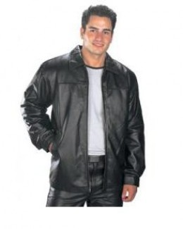 Men's short leather jacket - great for most men