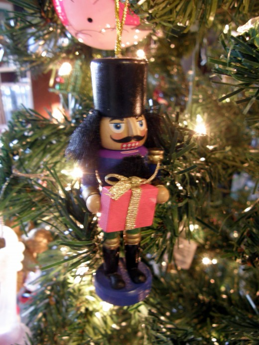 Several nutcrackers, varying in sizes, grace the tree.  They are just a small part of the growing collection for my oldest son.