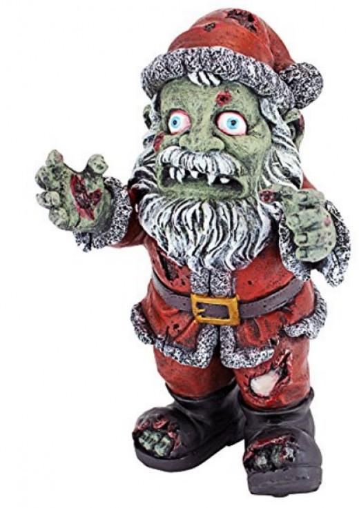 Zombie Santa Statue