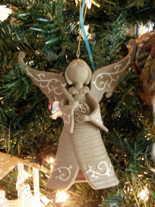 This ornament is a reminded of so many of our family members who are now angels.