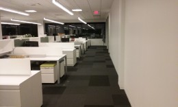 An office after early release