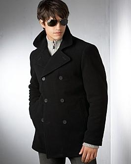 Classic men's pea coat